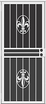 Fleur-de-lis All Season Security Door