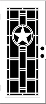 Heart of Texas Aluminum Door