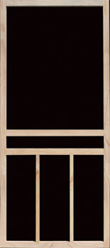 Piedmont Hinged Wood Screen Door
