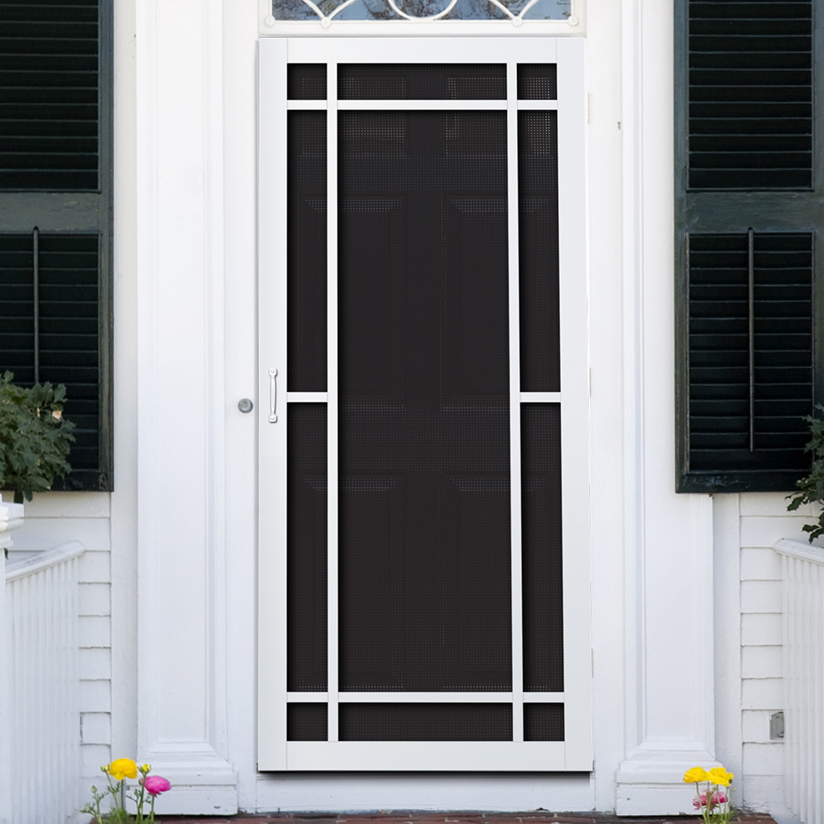 Titan security security screen door products security for Sliding storm doors home depot