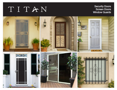 Security Doors \u0026 Window Guard Brochure & Product Downloads | Titan Security - Security Screen Door Products